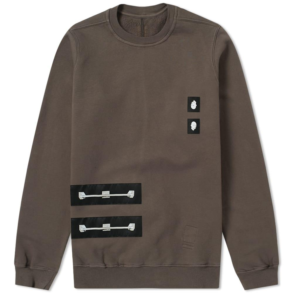 Rick Owens Drkshdw 4 Patch Crew Sweat In Brown
