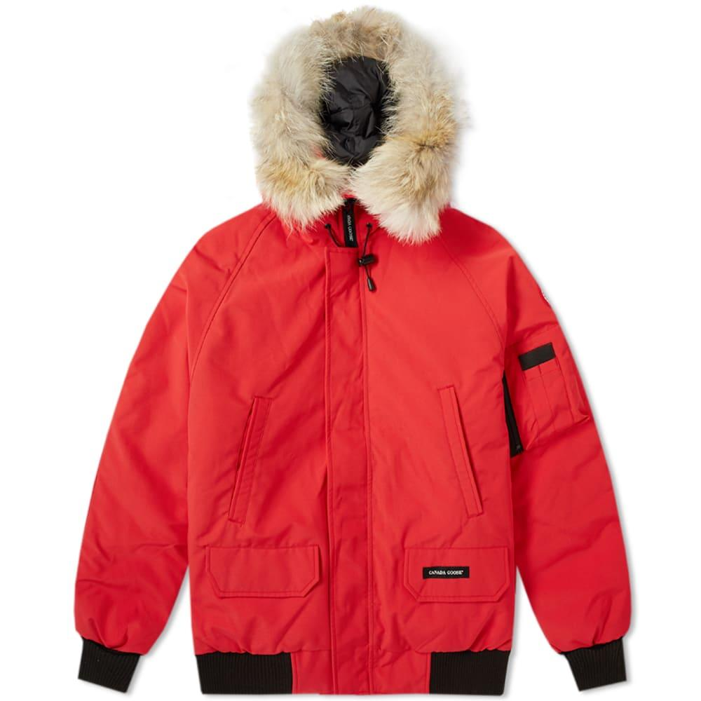 Canada Goose Chilliwack Bomber Jacket In Red
