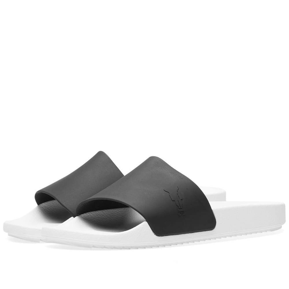 Rick Owens Drkshdw Shower Slide In White