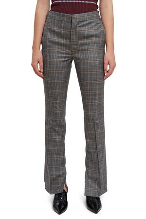 Toga Opening Ceremony Wool Check Vent Pants In Light Gray 23