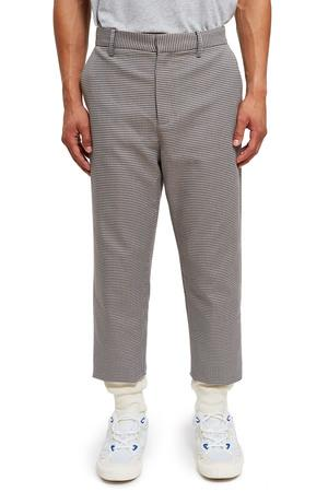 Opening Ceremony Houndstooth Thermal Lined Trousers In Navy Multi