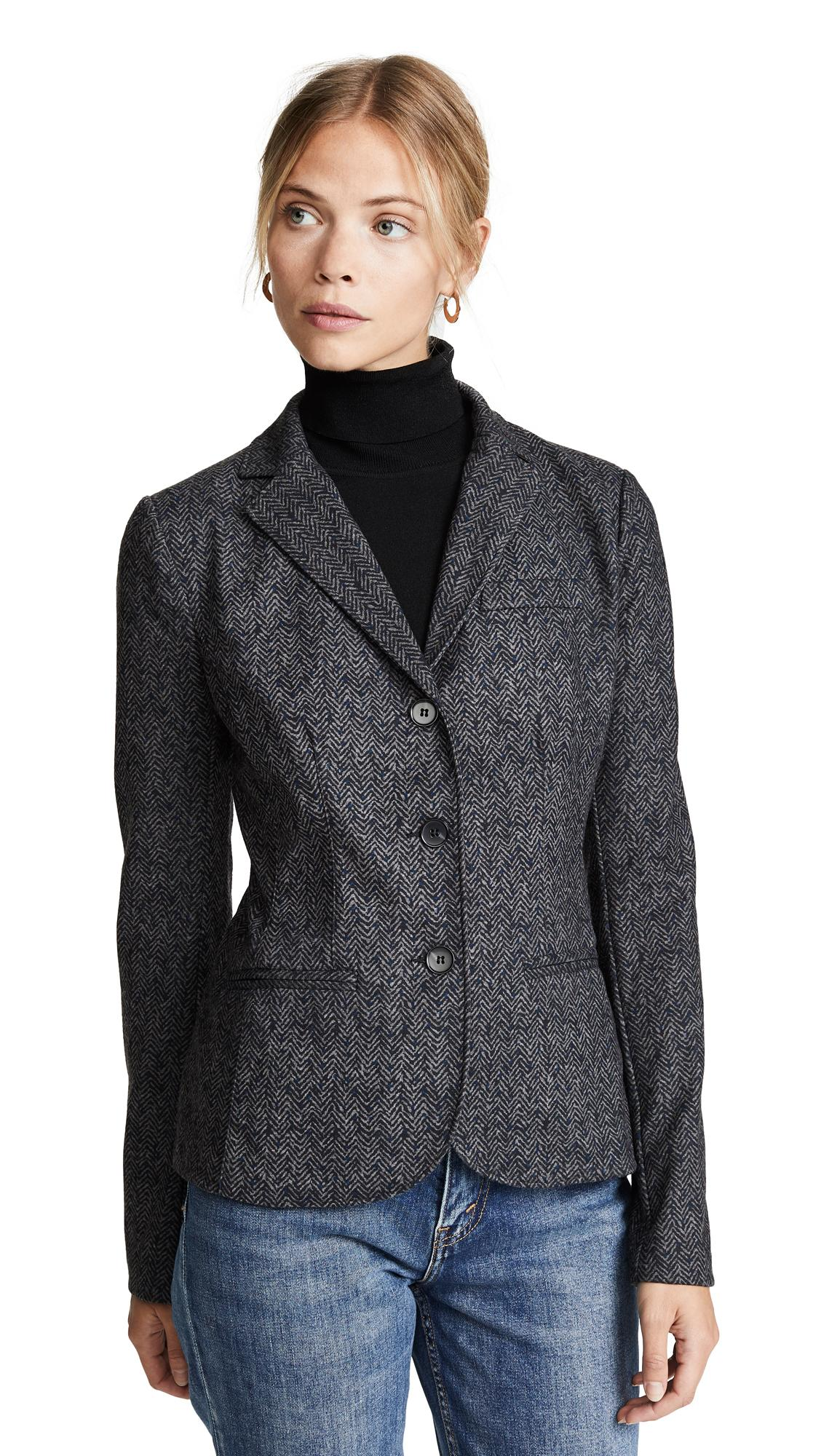 Bailey44 Black Op Brushed Blazer In Anthracite