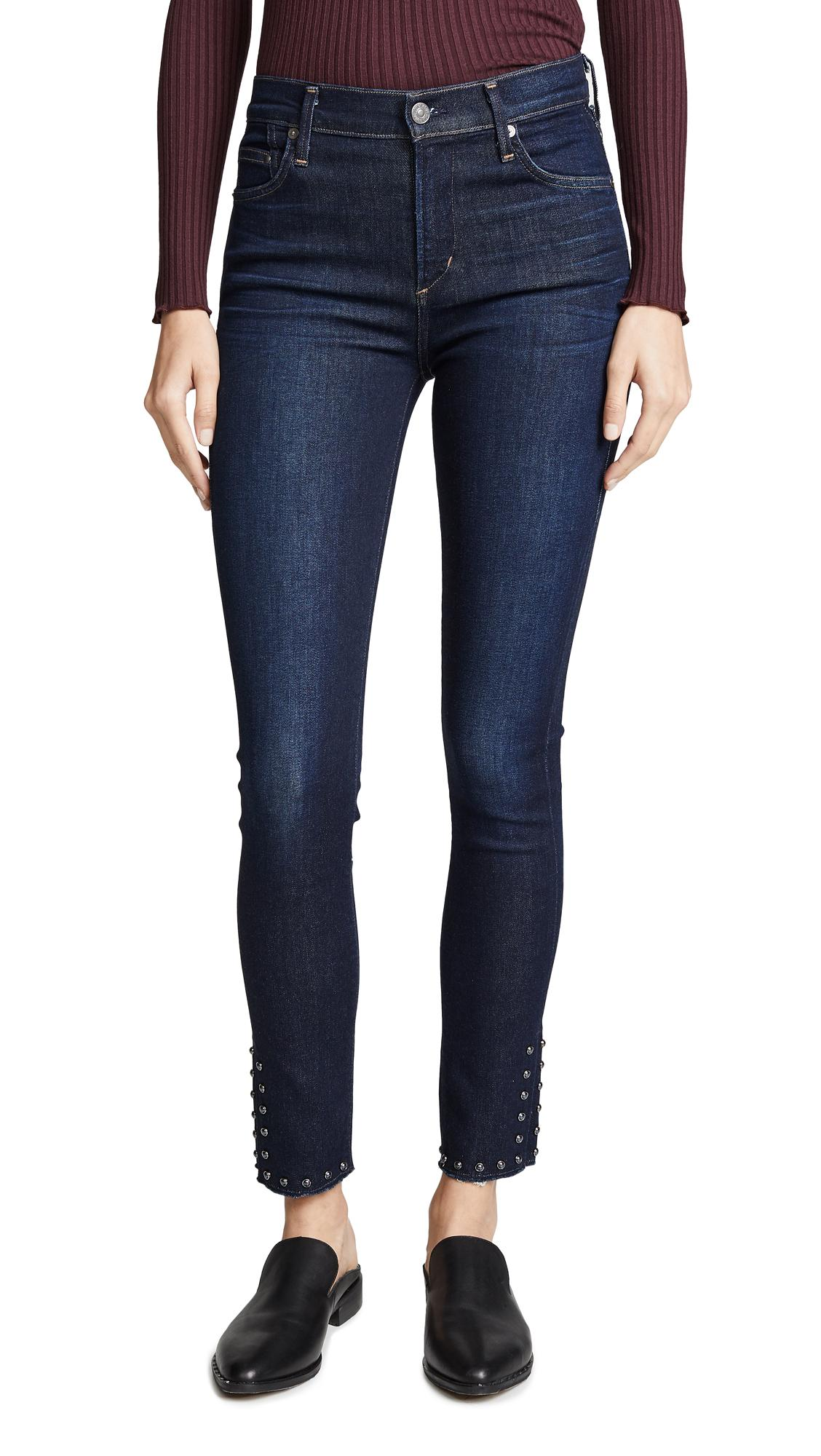 Citizens Of Humanity Rocket Ankle Split Hem Jeans In Awe