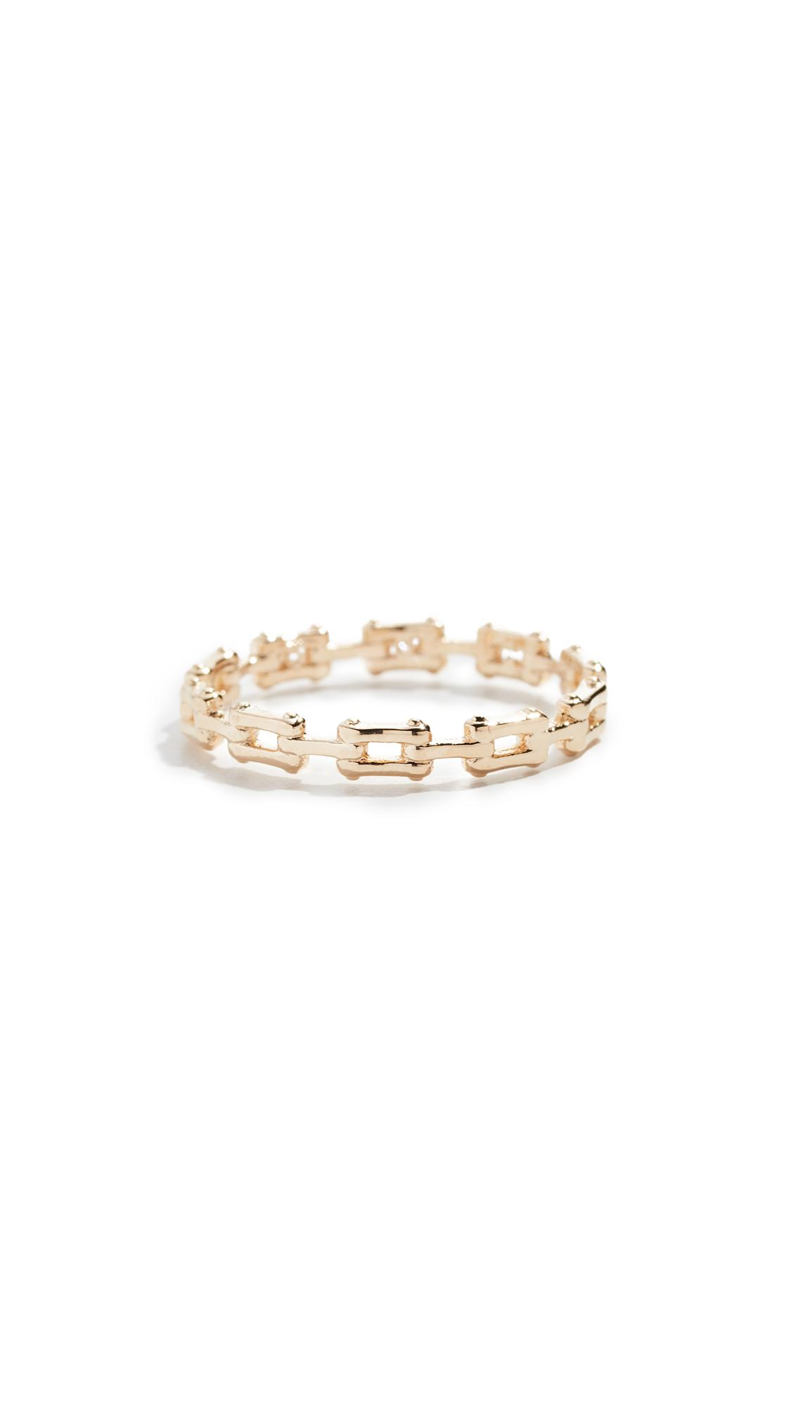 Cloverpost Bracket Ring In Yellow Gold