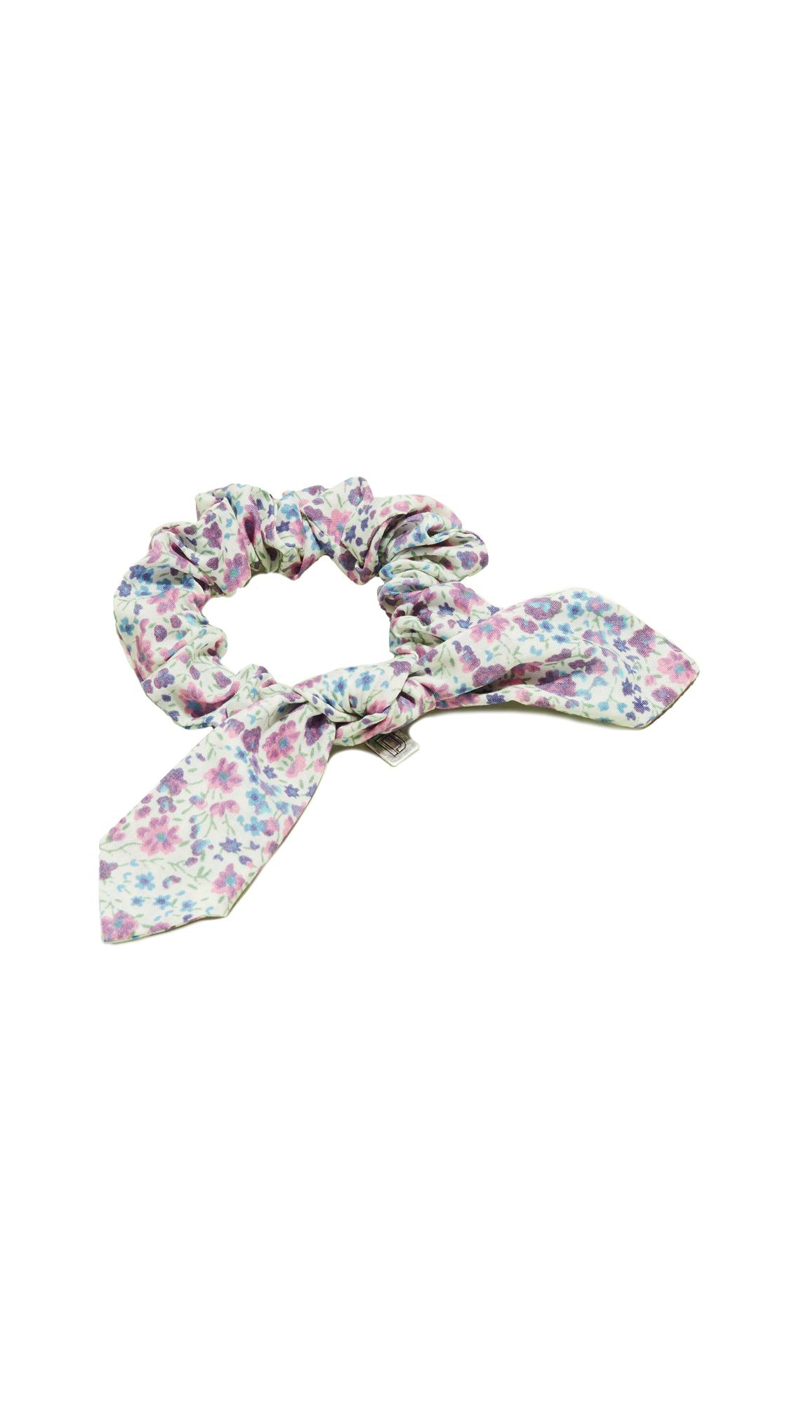 Dannijo Floral Print Scrunchie In Purple