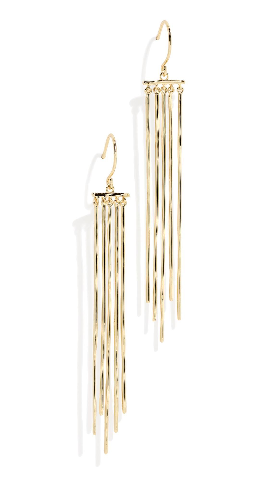 Gorjana Josey Earrings In Yellow Gold