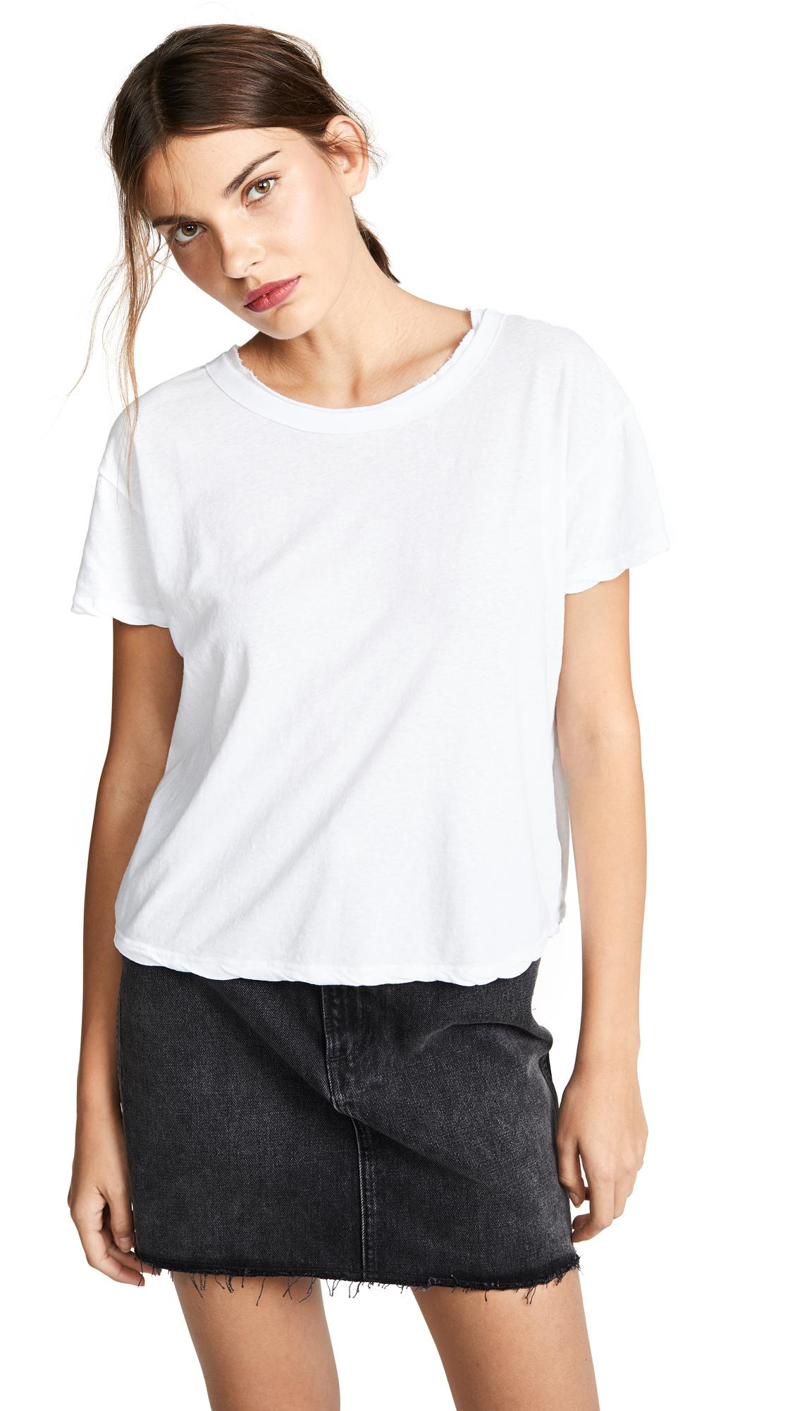 James Perse Boxy Tee In White