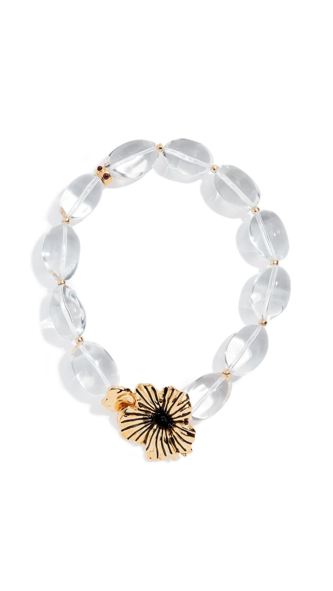 Lizzie Fortunato Brindisi Collar Necklace In Clear/Brass