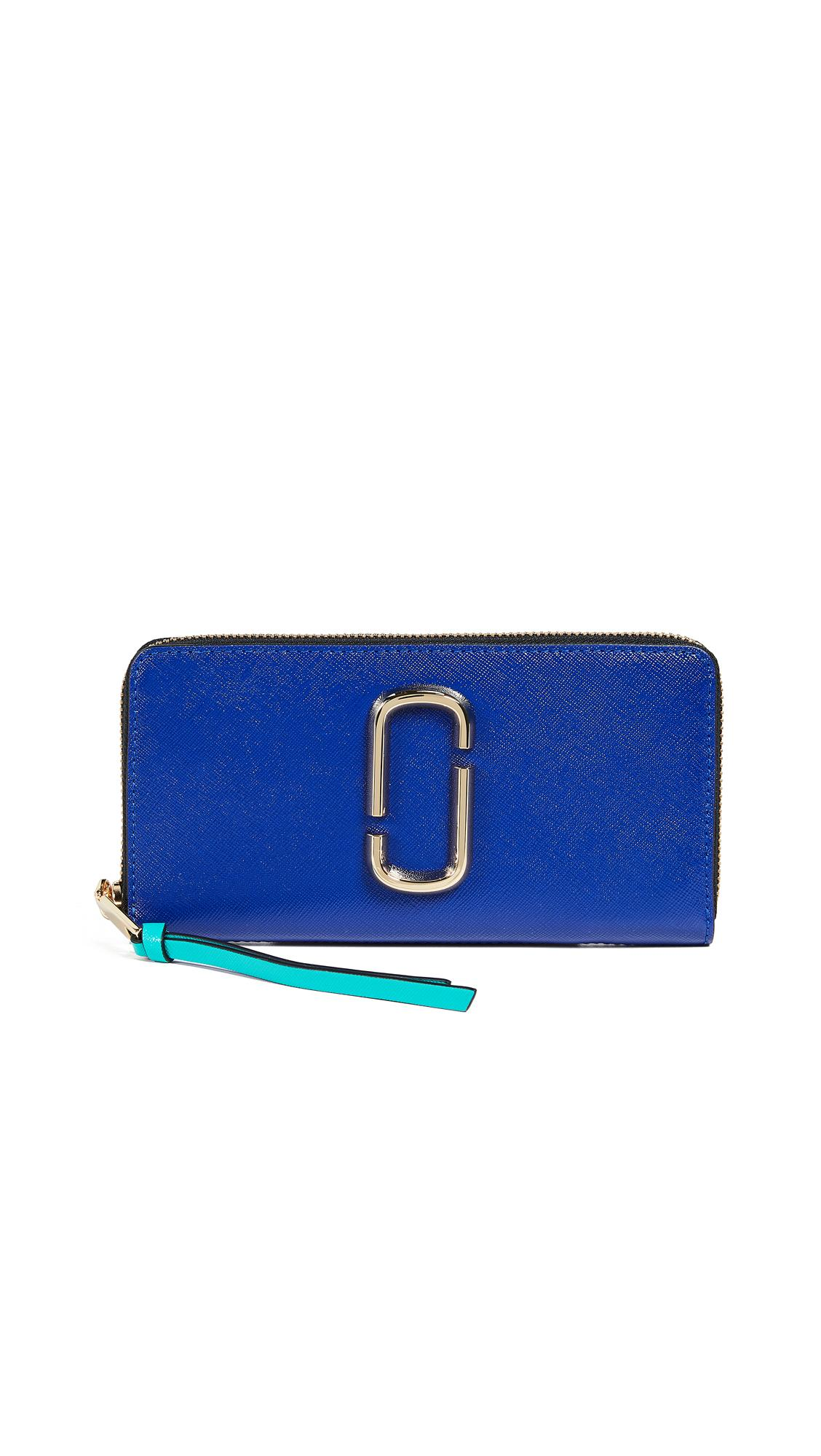 Marc Jacobs Snapshot Standard Continental Wallet In Academy Blue Multi