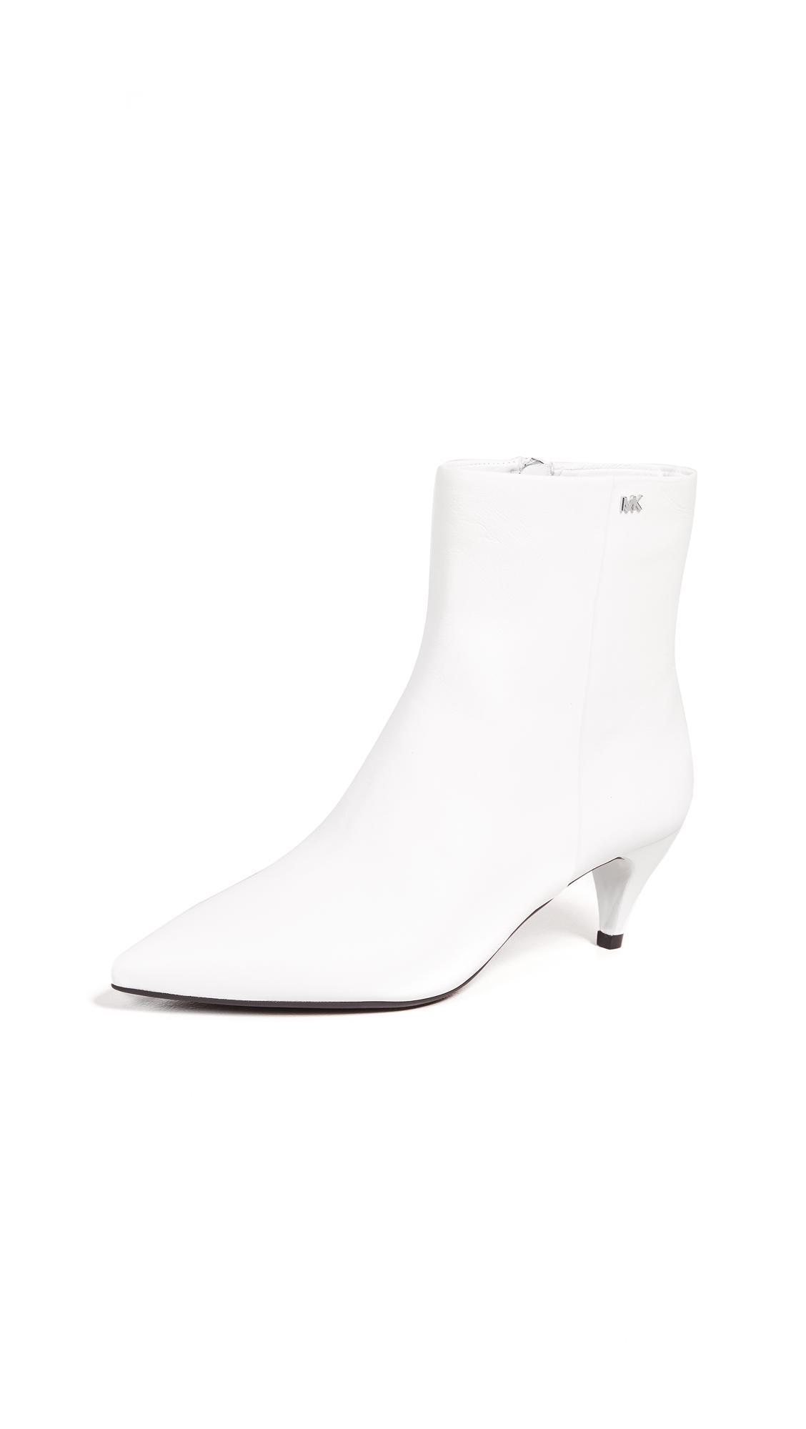 c203a8c23d1 Blaine Flex Kitten Heel Booties in Optic White