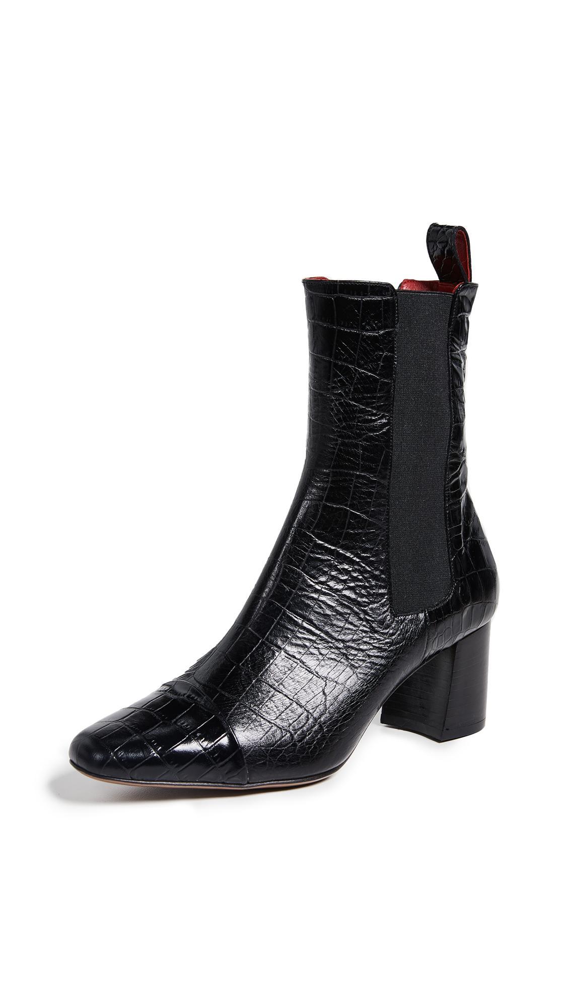 Trademark Delphine Booties In Black