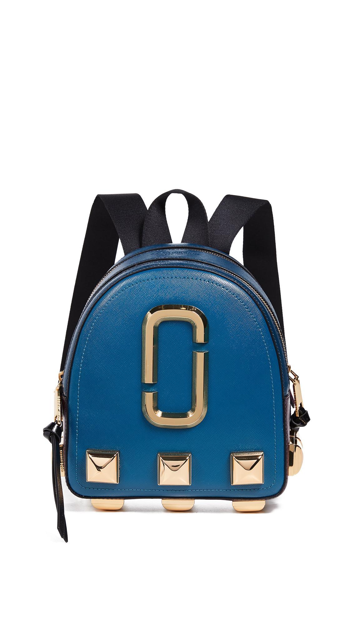 Marc Jacobs Packshot Studs Backpack In Teal Multi