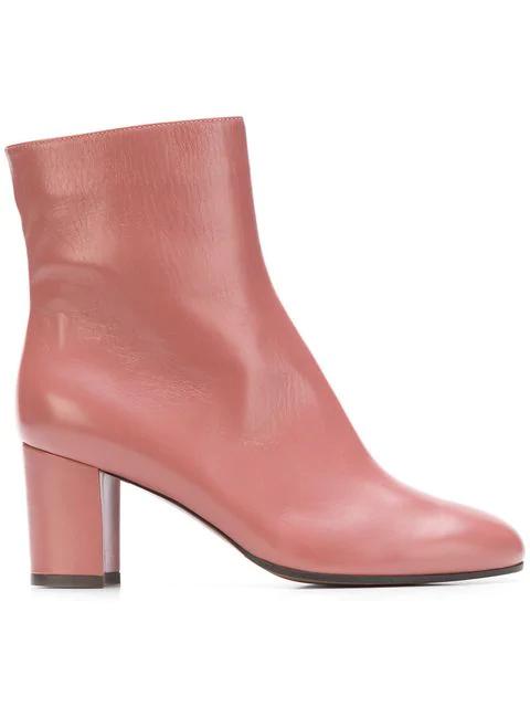 L'autre Chose Classic Ankle Boots - Pink
