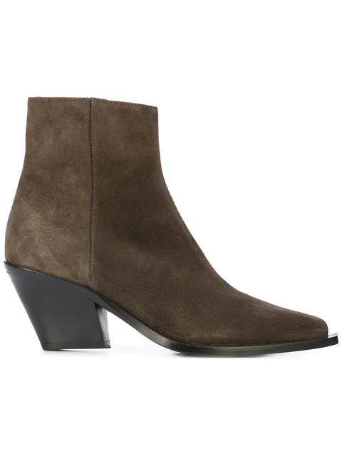 Barbara Bui Chunky Heel Boots - Brown