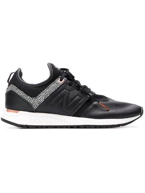 New Balance Shagreen Trim Sneakers In Gy Black
