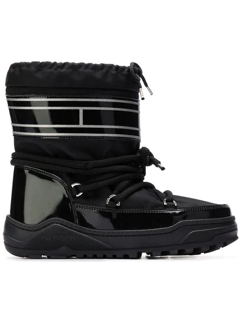 Tommy Hilfiger Pvc Trim Snow Boots In Blue