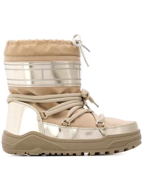 Tommy Hilfiger Pvc Trim Snow Boots In 068 Cobblestone
