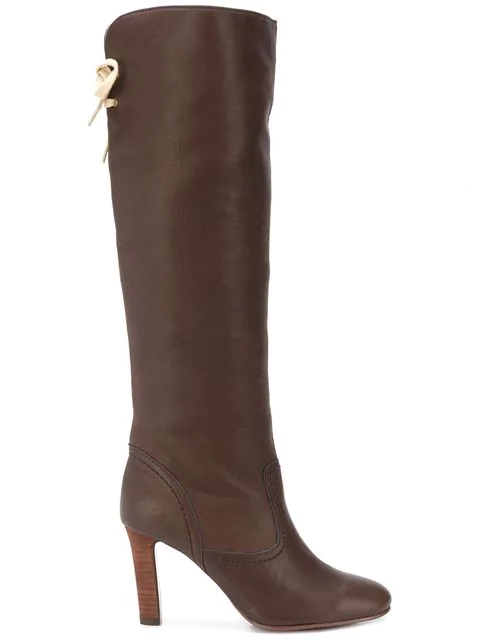 See By ChloÉ Lace Back Knee-length Boots - Brown