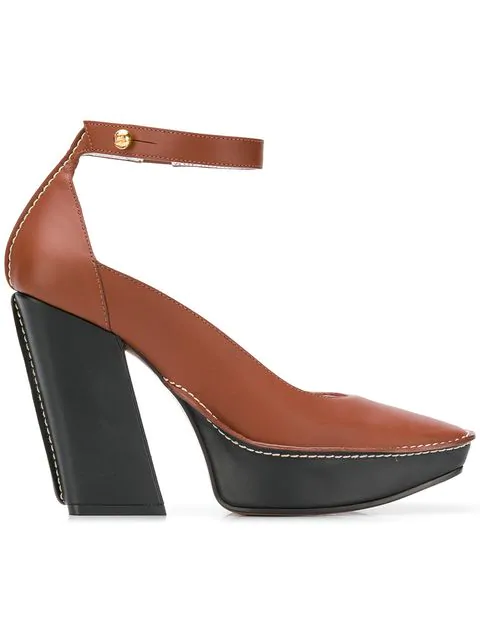 Givenchy High Wedge Sandals In Brown
