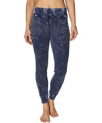 Betsey Johnson Bleach Wash Waffle Jogger In Nocolor