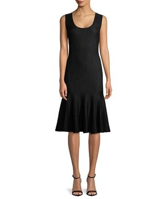 Carolina Herrera Ribbed Sheath Dress In Nocolor