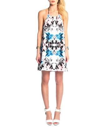 Donna Mizani Halter Mini Shift Dress In Nocolor