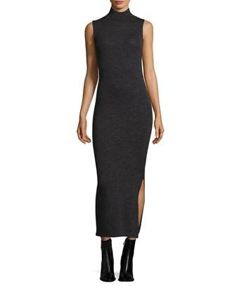 French Connection Turtleneck Midi Dress In Nocolor