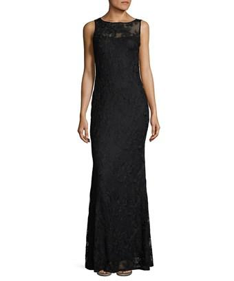 Karl Lagerfeld Paris Sleek Lace Gown In Nocolor