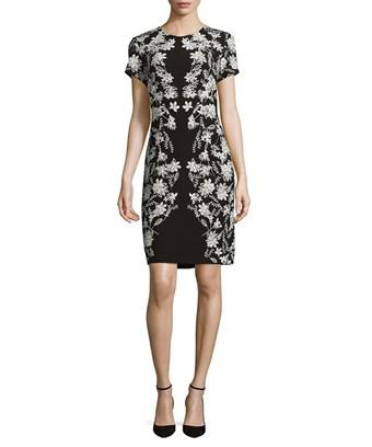 Karl Lagerfeld Paris Floral Sheath Dress In Nocolor