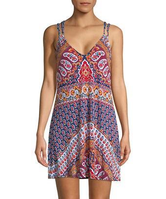 Nanette Lepore Super Fly Paisley Short Dress Cover-up, Multi
