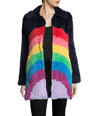 Manoush Rainbow Coat In Nocolor