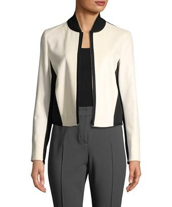 Punto Two-tone Bomber Jacket In Nocolor