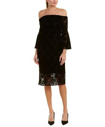 Shoshanna Sheath Dress In Black