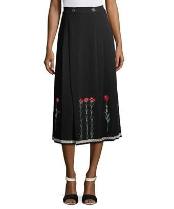 Temperley London Embroidery Midi Skirt In Nocolor