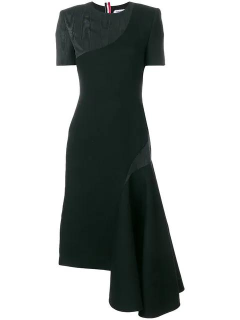 Thom Browne Crepe Pencil Dress - Black