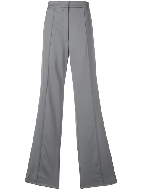 Nina Ricci Side Stripe Wide-leg Trousers - Grey