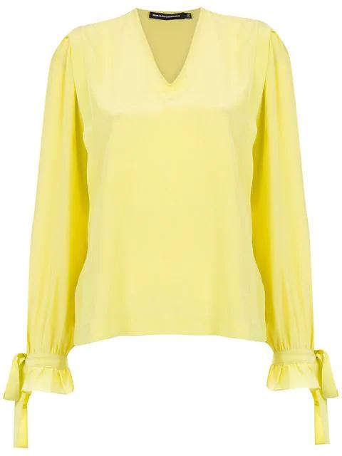 Reinaldo LourenÇo Silk Blouse In Yellow