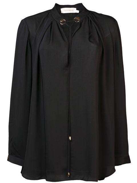 Zimmermann Deep V Neck Blouse In Black