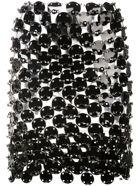 Paco Rabanne Chainmail Mini Skirt - Black