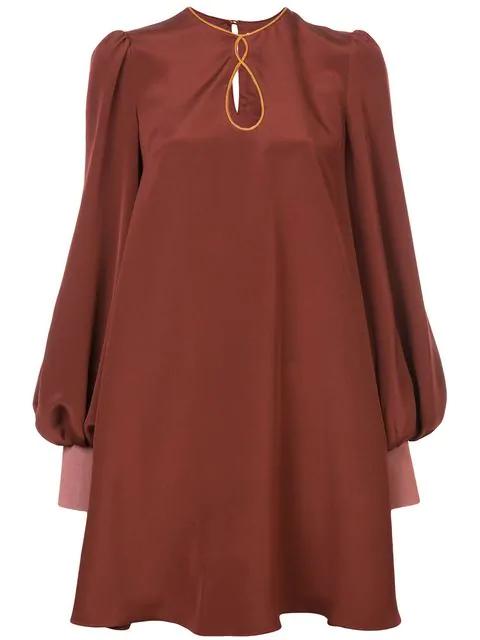 Roksanda Oversized Sleeve Dress - Red