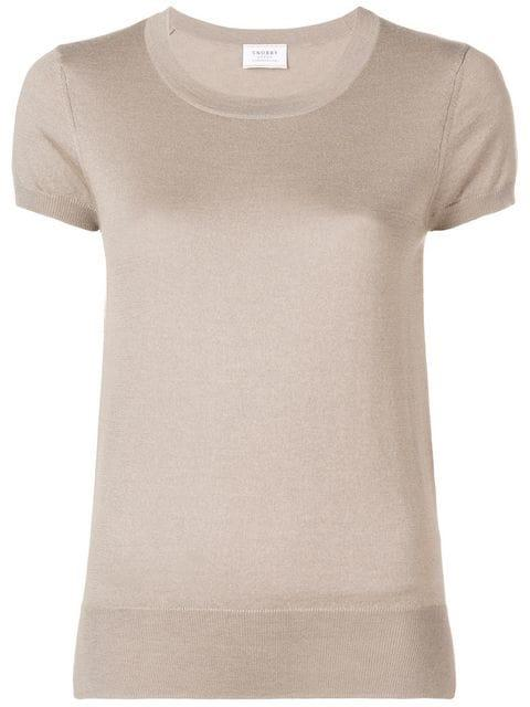 Snobby Sheep Knitted Top In Neutrals