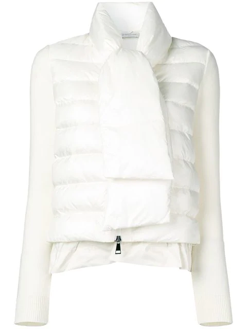 Moncler Padded Front Knitted Jacket - White