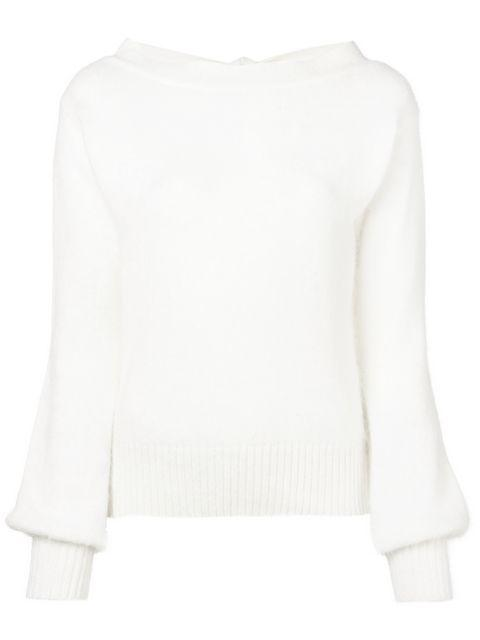 Semicouture Bell Sleeve Sweater - White