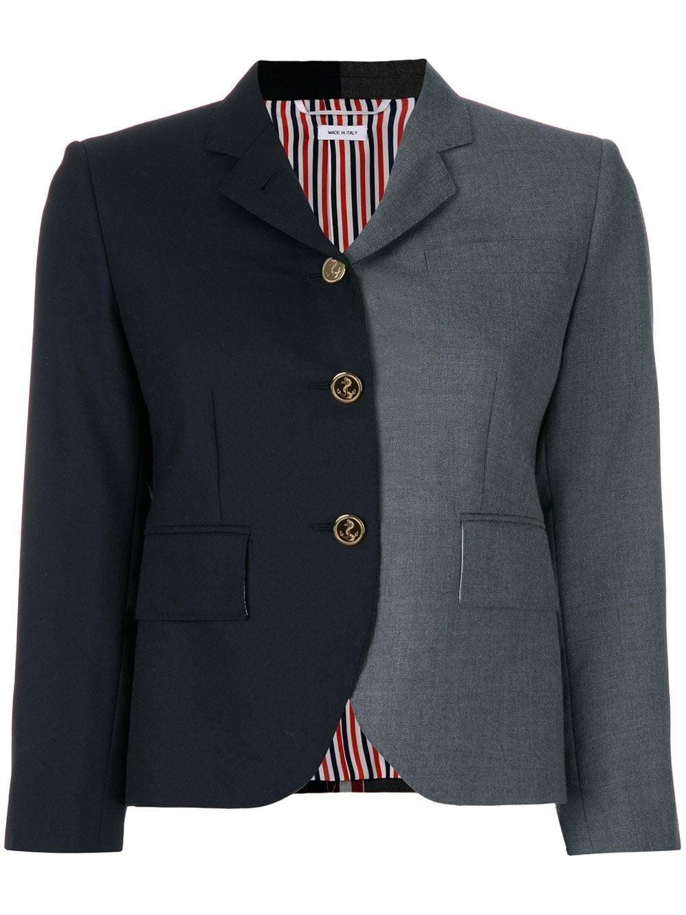 Thom Browne Grey Two-tone Sport Coat