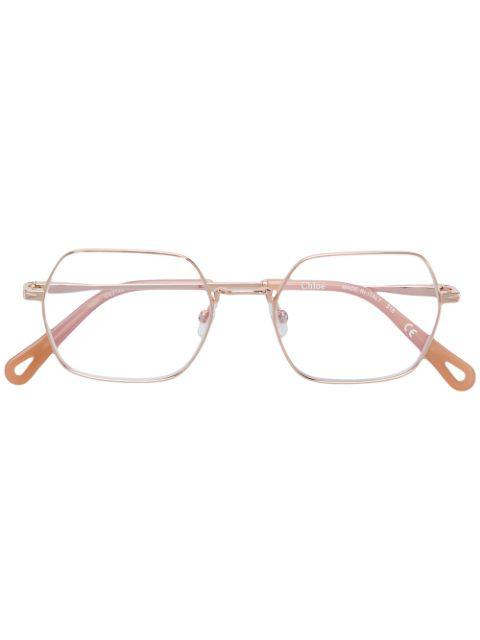 ChloÉ Eyewear Geometric-shaped Glasses - Metallic