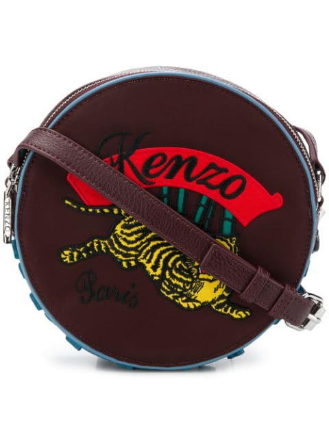 Kenzo Embroidered Drum Bag In Red