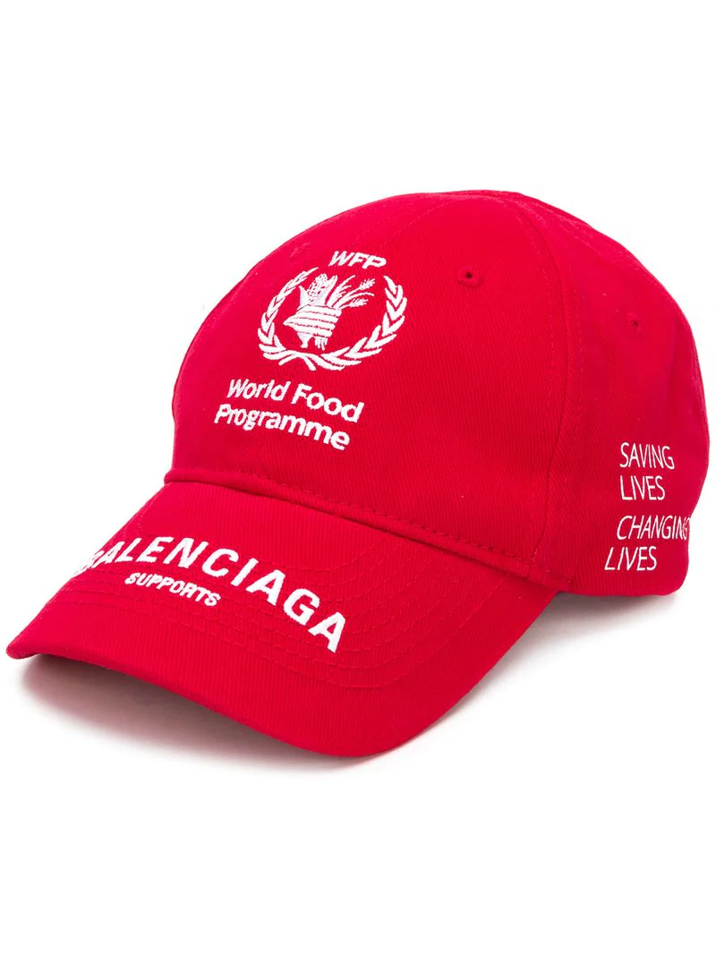 b5b6edde Balenciaga World Food Programme Cap - Red | ModeSens
