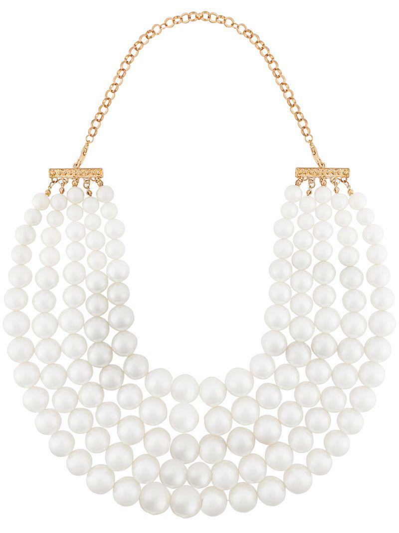 Edward Achour Paris Pearl Necklace - White
