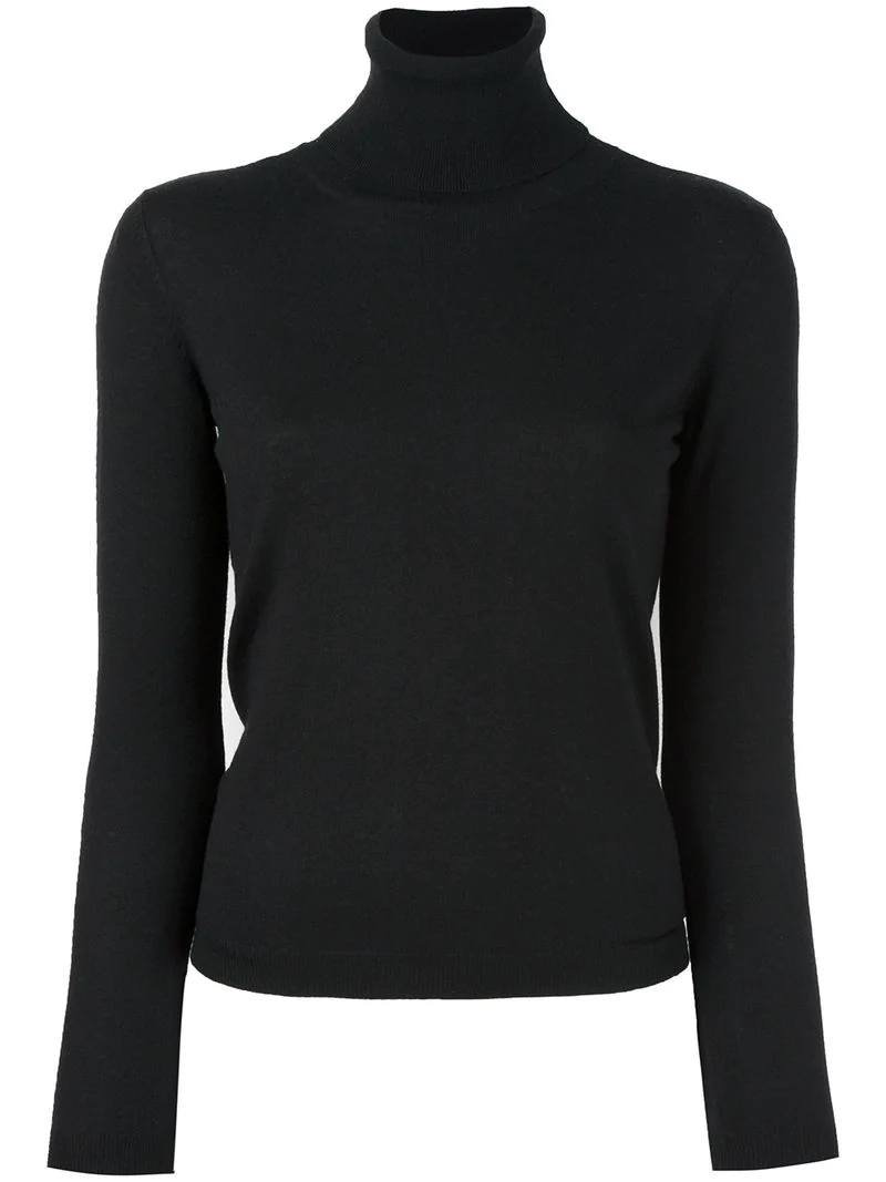 Red Valentino Turtleneck Jumper - Black