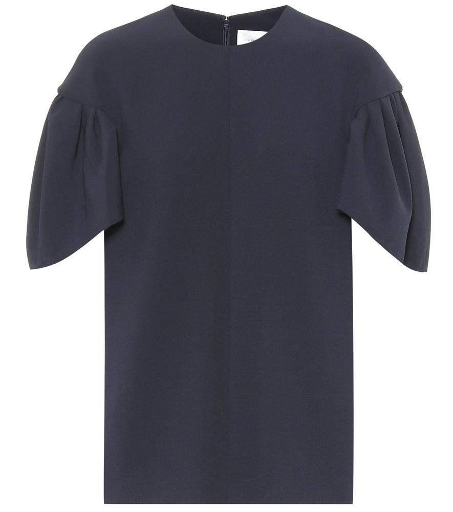 Victoria Victoria Beckham Wool-blend Top In Blue